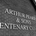 arthur peake signage on new chapel