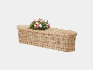 Curved End Children's Willow Casket