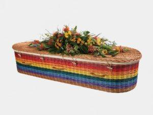 Rainbow Curved End Willow Coffin