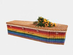 Rainbow Traditional Willow Coffin