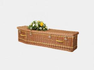 Traditional Child's Willow Casket