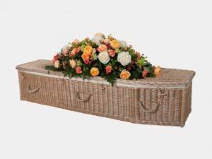 Traditional Willow Coffin with Rope Handles