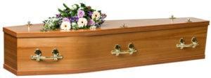 Veneered Elm Coffin